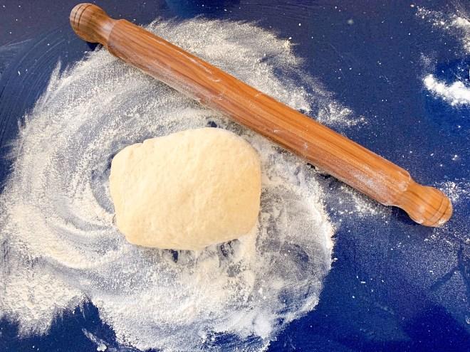 Hermione Sweet Sourdough Cinnamon Rolls dough formed
