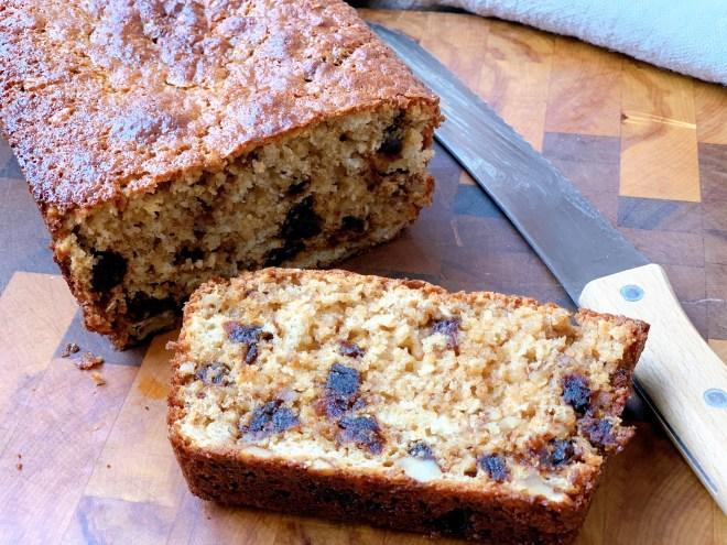 Hermione Sweet Sourdough Date Nut Loaf cut open