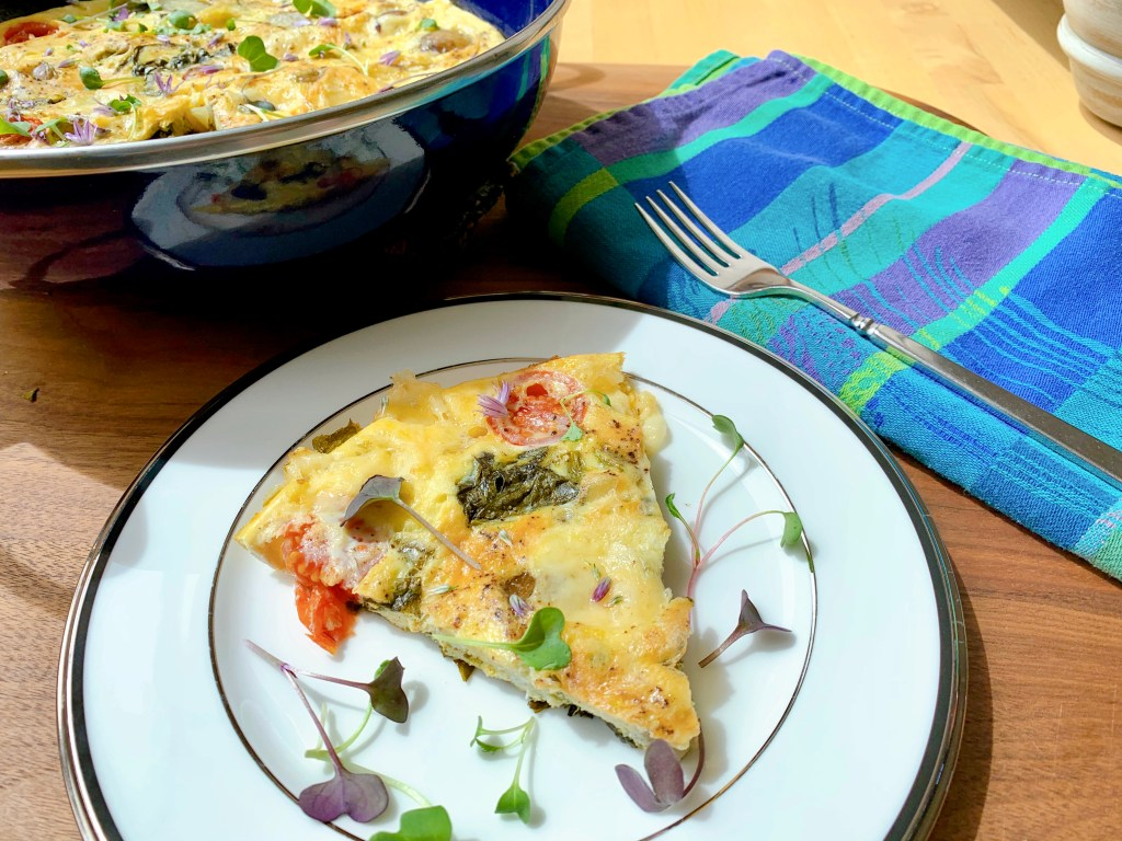 Farmers' Frittata with Spring Sorrel - how to plate the dish