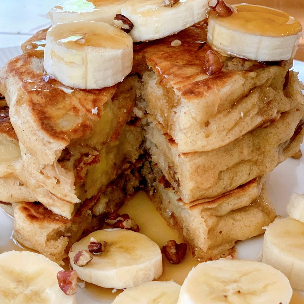 Fluffy Buttermilk Pancakes - close up