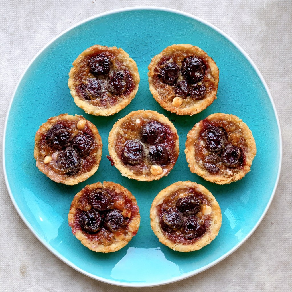 Bing Cherry Butter Tarts - overhead view
