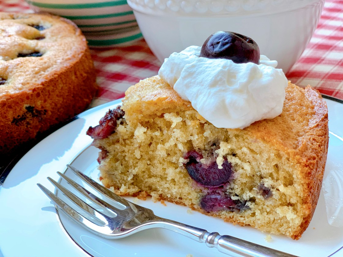 Cheery Cherry Cake - side view