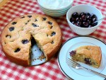 Cheery Cherry Cake - overhead view