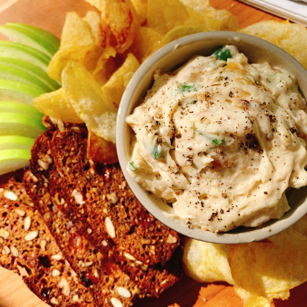 Caramelized and Green Onion Dip- close up