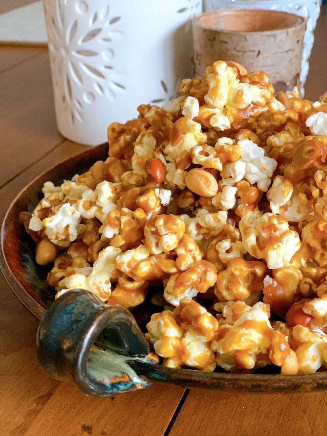 Caramel Jacks Popcorn - close up