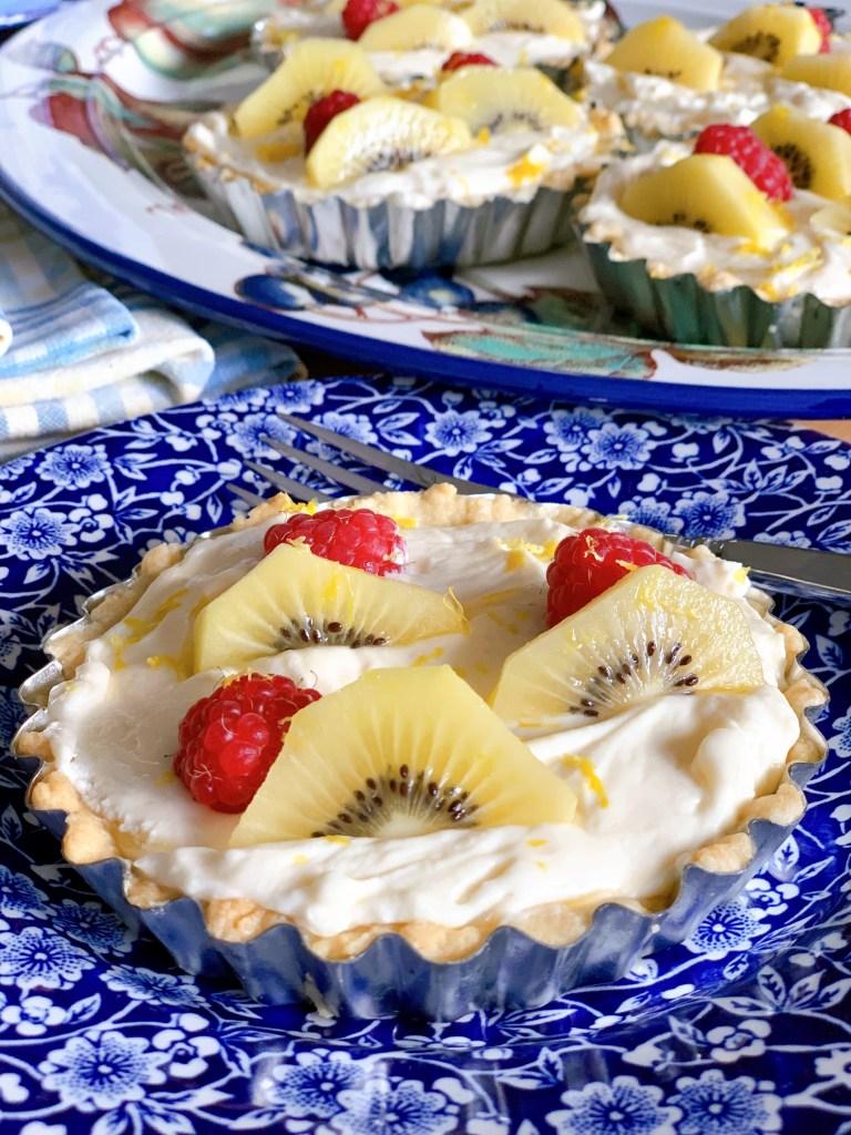 Quick and Easy Lemon Tarts - side angle photo