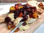 close up ofTomato and Cherry Brie Bake