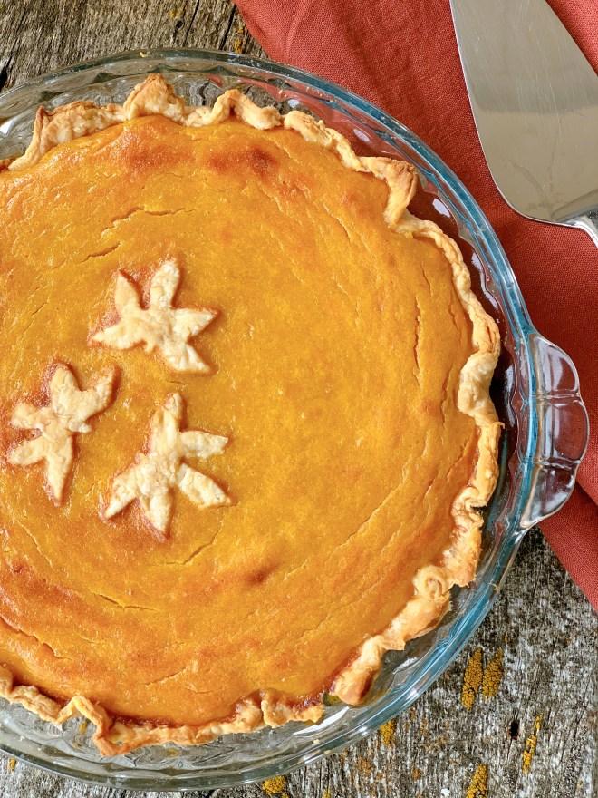 Stonepost Farms' Pumpkin Pie - close up