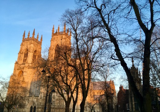 York Minster bathed in the light of the setting sun
