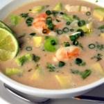 Creamy Garlic Seafood Soup