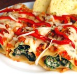 Baked Lamb & Spinach Manicotti Bundles + Awards!