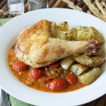 Crispy Baked Chicken w/ Herb Buffalo Sauce