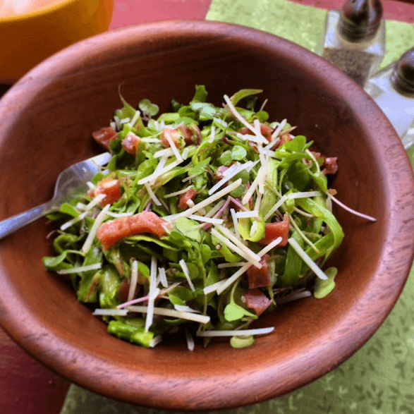 Shaved Asparagus Proscuitto Salad