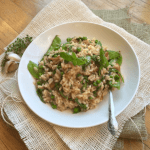Spring Pea & Arugula Risotto with Mint