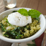 Kale Pesto Quinoa w/ Poached Egg