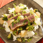 Grapefruit-Ginger Seared Tuna w/ Coconut Rice