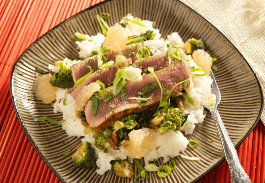 Grapefruit Ginger Tuna Jiggy Greens