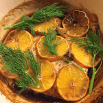Clementine Vodka Glazed Salmon
