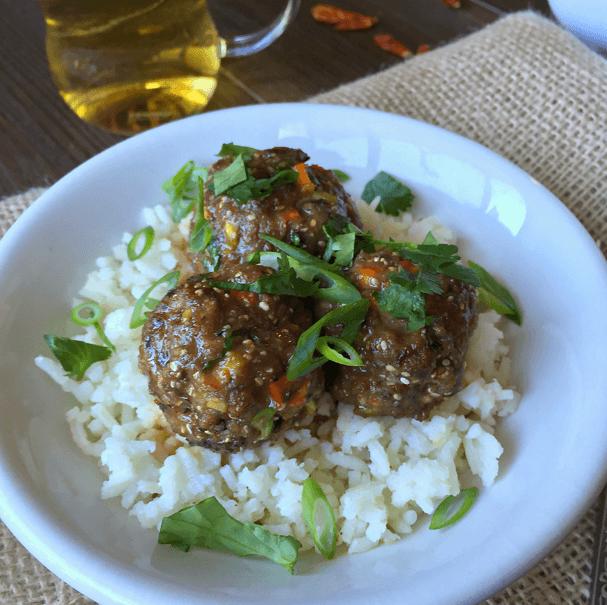 Coconut Thai Ginger Meatballs
