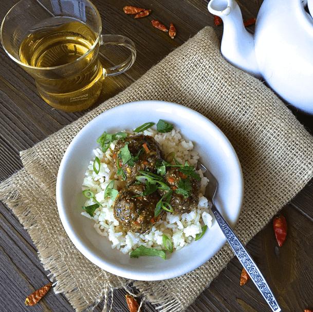 Healthy Quinoa Thai Meatballs