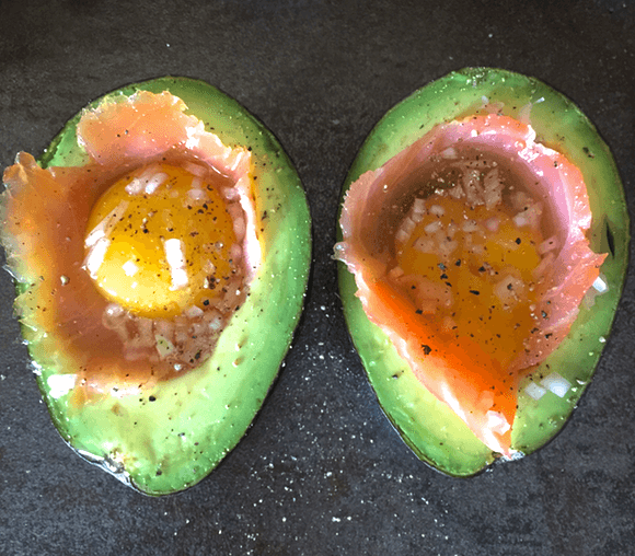 smoked-salmon-baked-eggs