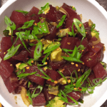Ahi Tuna & Avocado Poke Bowl