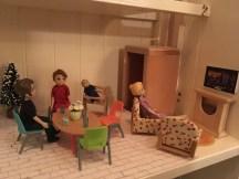 Dining room: homemade TV