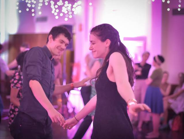 Happy Swing Dancing Couple