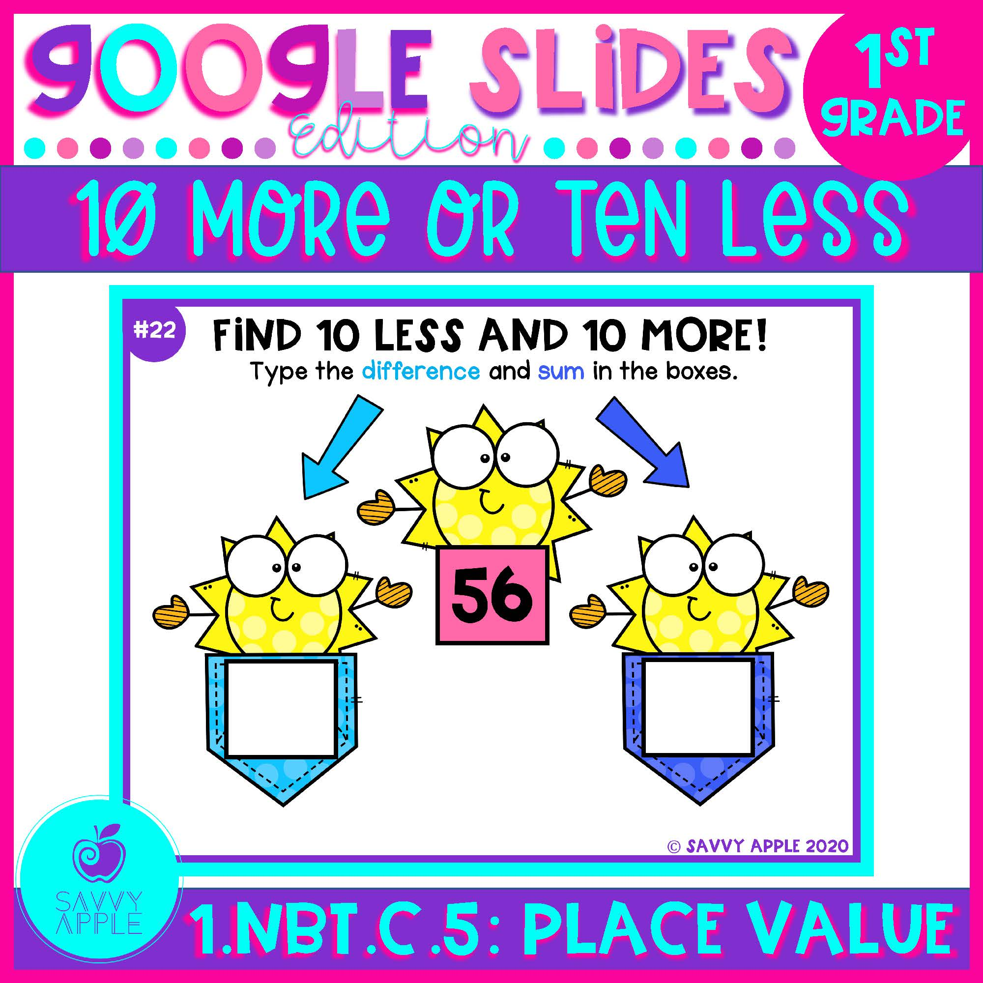10 More 10 Less Place Value 1st Grade