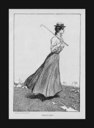 gibson girl plays golf