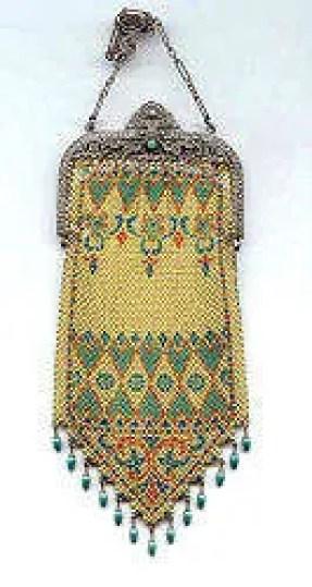 mandalian mesh purse