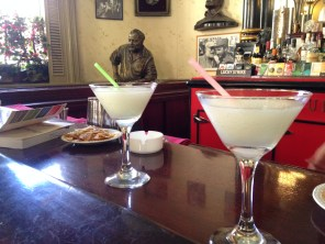 The most expensive daiquiri in Cuba at La Floride - the bar frequented by Hemingway. We stopped in here to get our bearings.