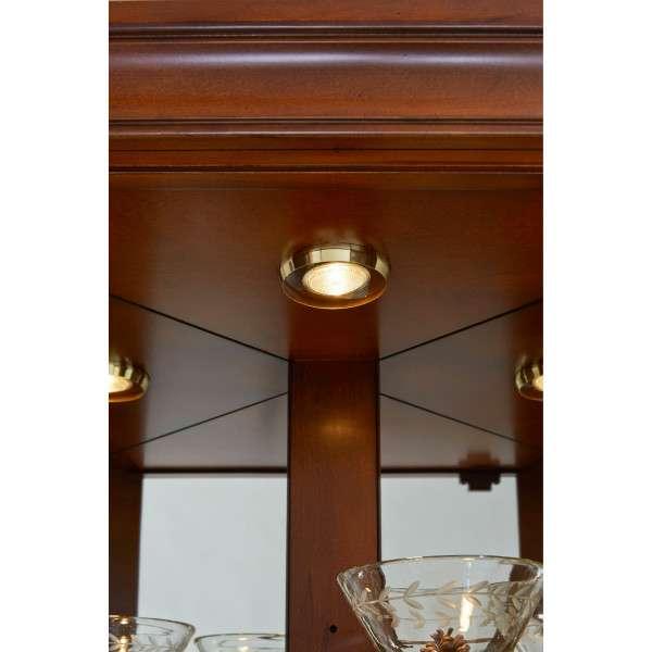Carved 5 Shelf Corner Curio Cabinet in Eden Oak Brown ... on Corner Sconce Shelf Cabinet id=14178
