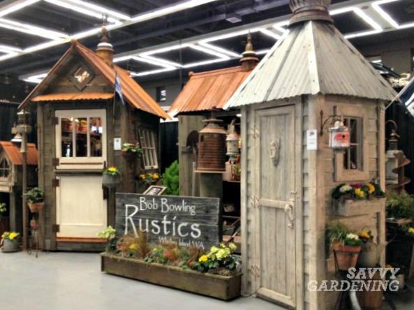 Handcrafted garden sheds seen at the NWFGS in 2014.