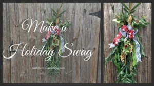 make a holiday swag in five easy steps