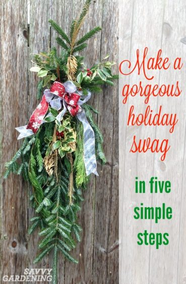 Even if you're not crafty, you can make this beautiful holiday swag in just a few minutes.