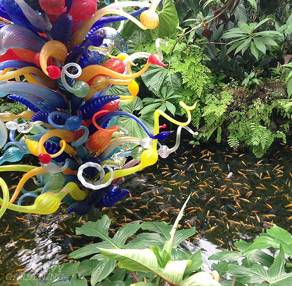 Dale Chihuly sculpture at Fairchild