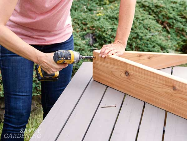 DIY cold frame: Step 3
