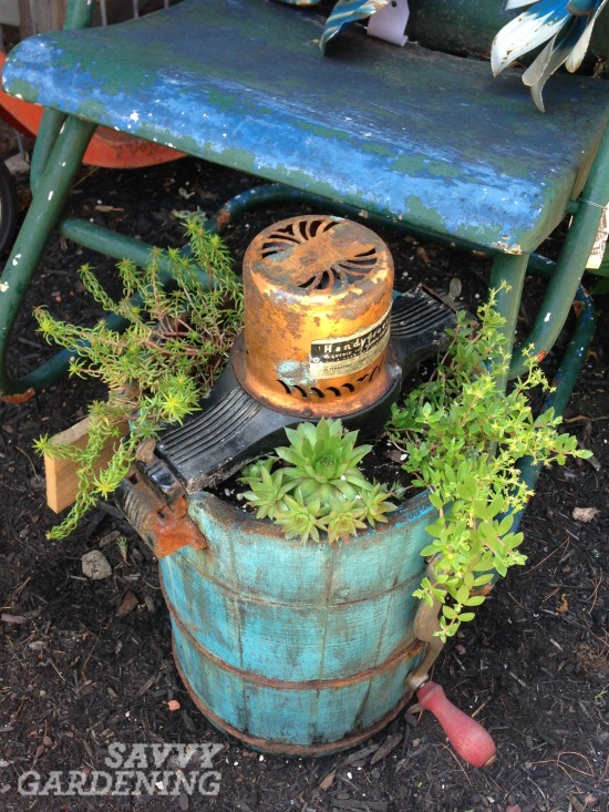 recycled garden container