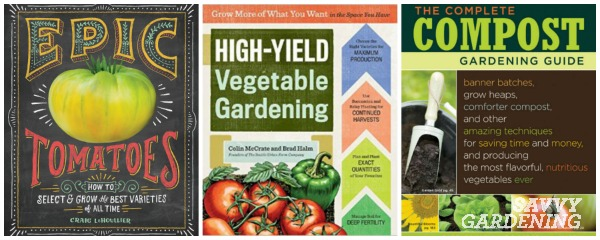 Gardening books for vegetable gardeners