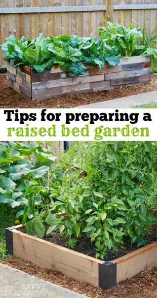 preparing a raised bed garden