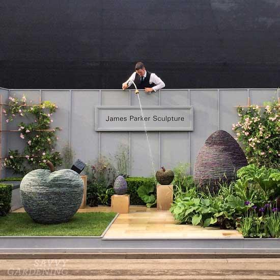 James Parker Sculpture exhibit at the Chelsea Flower Show