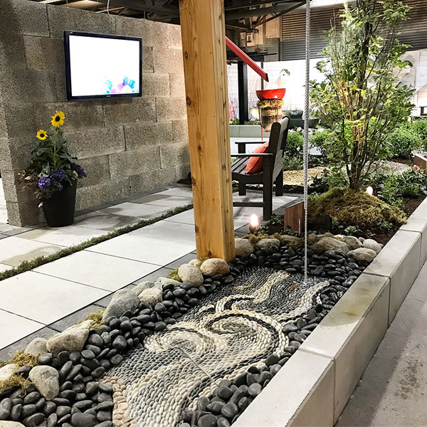 dry bed in a fusion garden
