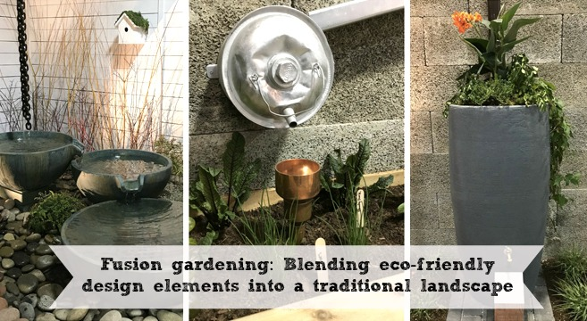fusion gardening: blending eco-friendly design elements into a traditional landscape