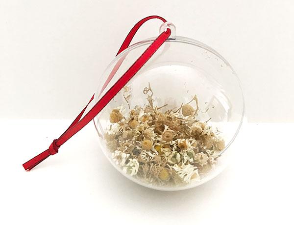 dried chamomile ornament