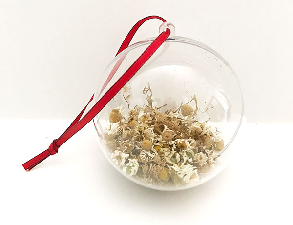 dried chamomile ornament