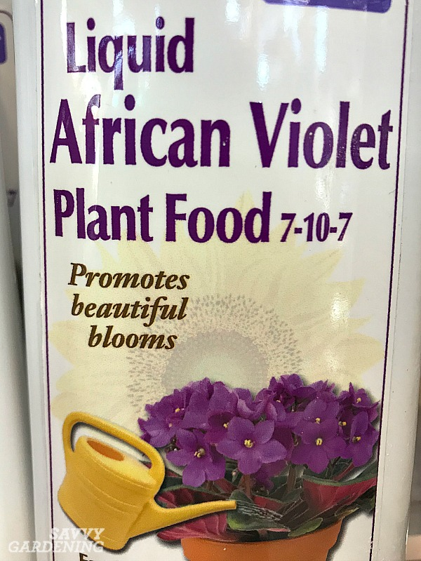 Fertilizer for flowering houseplants.
