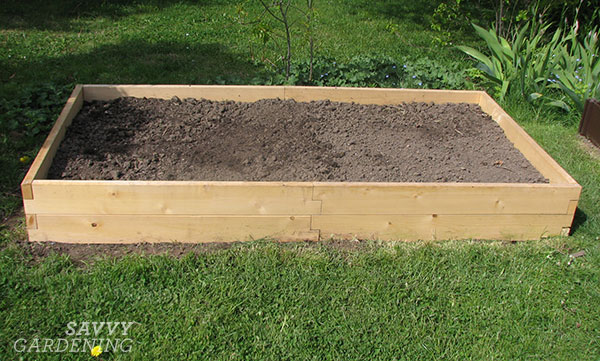 One of the benefits of planting in a raised bed is you control all the rich, organic matter that goes into it. This is especially necessary if you have hard-packed or clay soil, or soil full of roots from a neighboring tree. #sponsored
