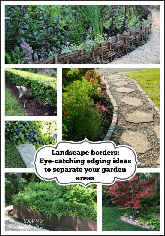 Landscape Borders Eye Catching Ideas To Separate Your Garden Areas