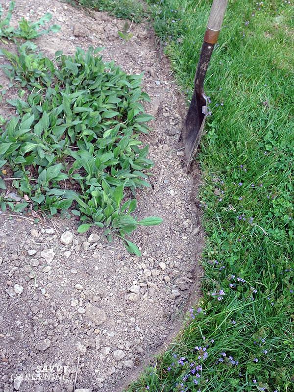 how to cut a garden edge